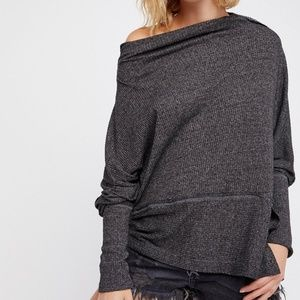 Free People londontown oversized off shoulder top
